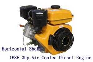 BQS-168F 196cc 3hp Small Air Cooled 4-stroke Diesel Engine