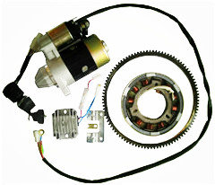 186F electric start accessory kit
